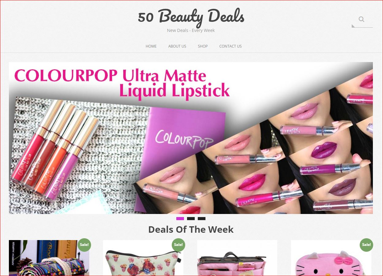 50 Beauty Deals Website